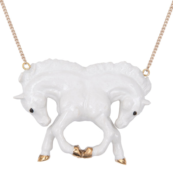 White Horse Reflection Necklace, Was £55