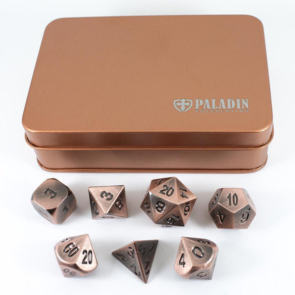 Solid Metal: Premium solid metal dice sets