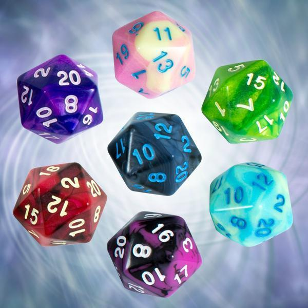Signature Dice: Our Signature Bicolor Marble RPG Dice Sets