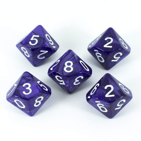 Paladin Roleplaying Purple D10 Dice - Pearl Effect