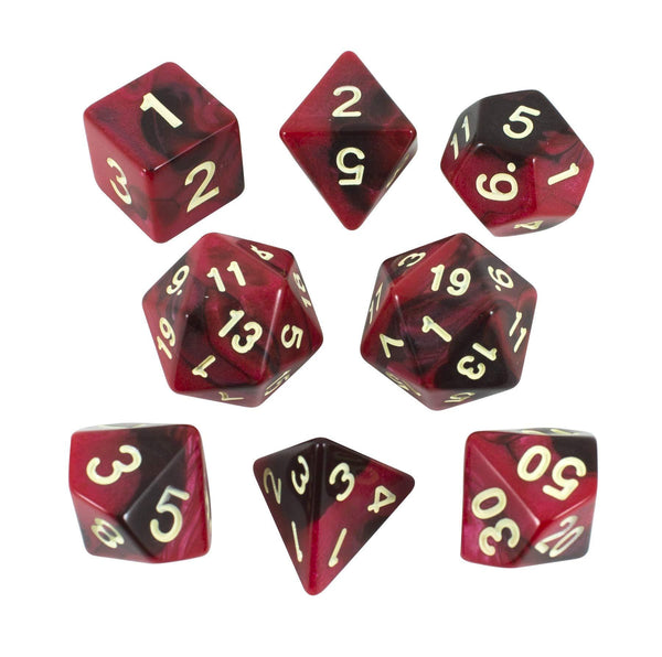 'Blood God' Red and Brown Dice - Expanded Polyhedral Set With Extra D20