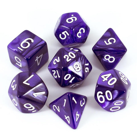Purple Pearl RPG Dice Set