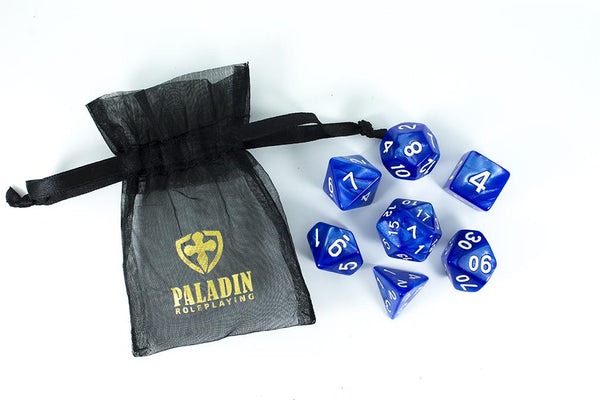 Paladin Roleplaying Pearl Blue Polyhedral Dice Set
