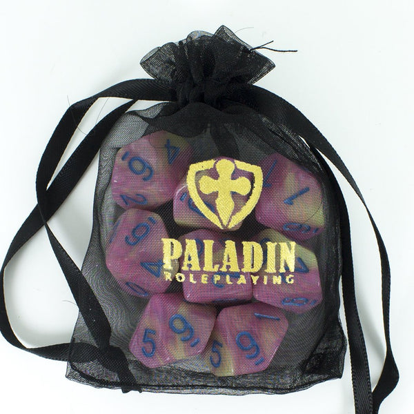 'Love Potion' Pink and Yellow 8 D10 Dice Set