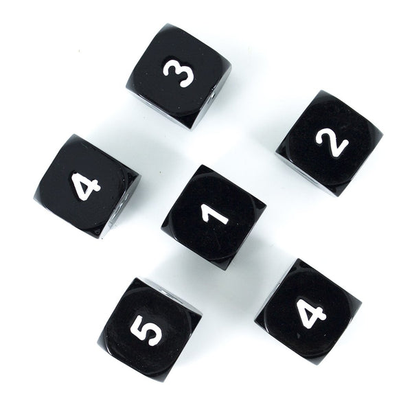 Paladin Roleplaying Black Metal D6 Dice - Set of Six