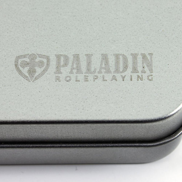 Paladin Roleplaying Metal Dice Tin - Silver