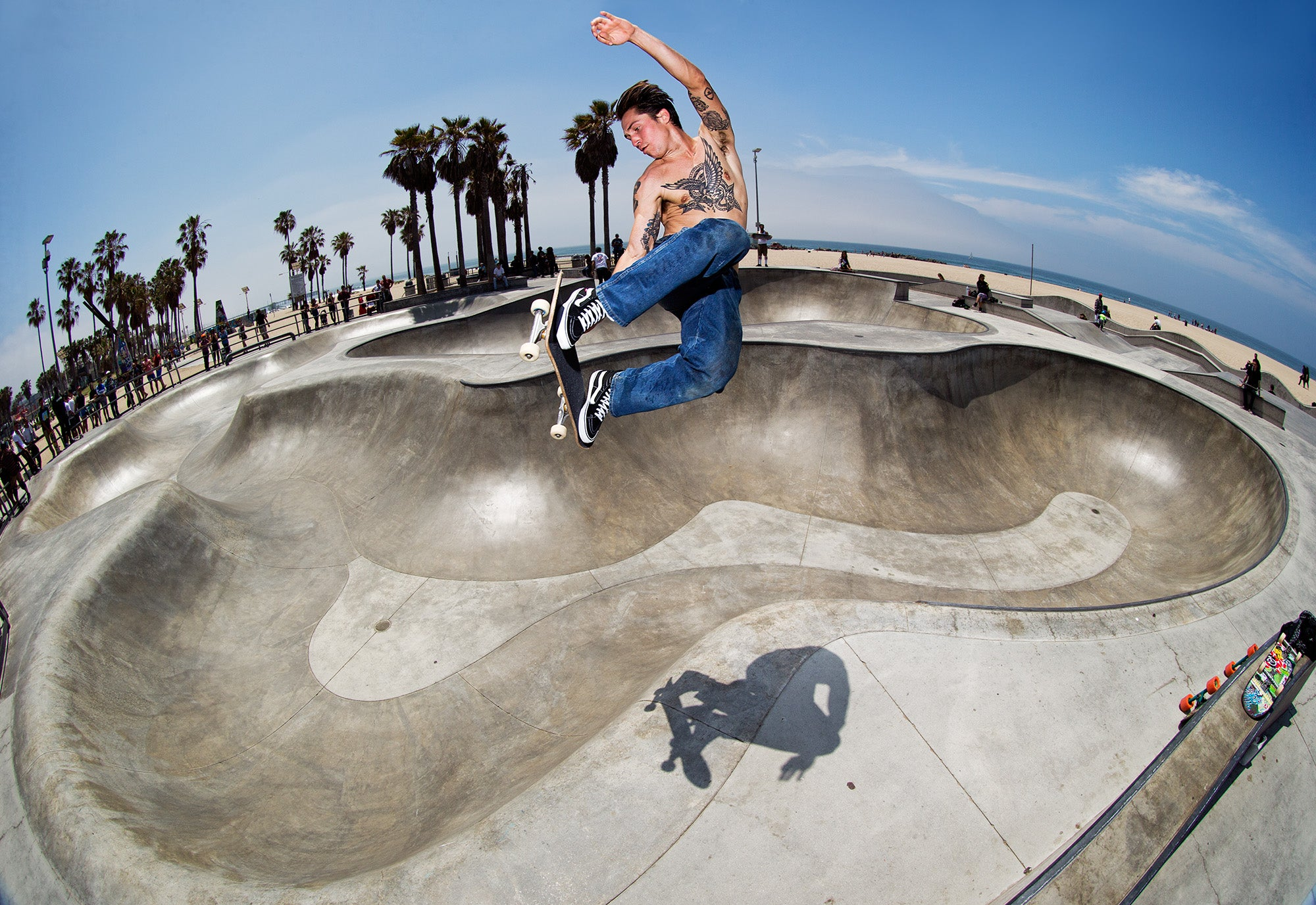 Elijah Berle Backside Air Transfer Venice photo Anthony Acosta Vans Welcome Skate Store Corey Duffel Interview