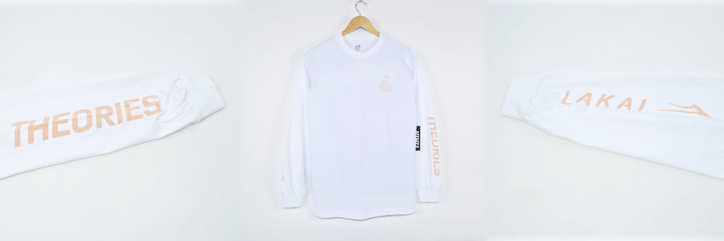 Lakai X Theories Pyramid Longsleeve White Welcome Skate Store