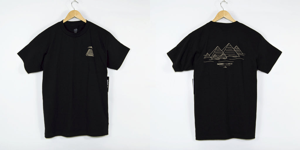 Lakai X Theories Pyramind T-Shirt Black Welcome Skate Store