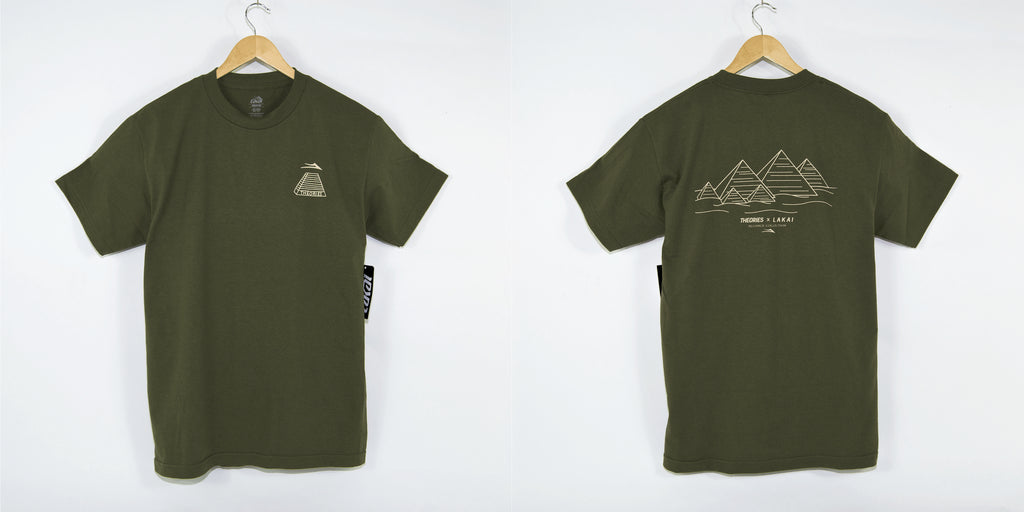 Lakai X Theories Pyramind T-Shirt Olive Welcome Skate Store