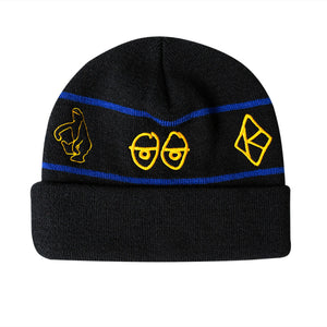 Krooked Skateboards - Naskar Beanie - Black