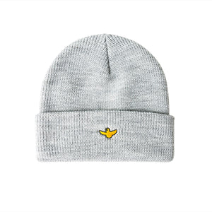 Krooked Skateboards - Bird Cuff Beanie - Heather Grey