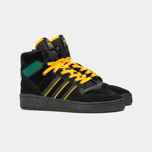 Adidas Skateboarding - Na Kel Rivalry Hi OG Shoes - Core Black / Collegiate Gold / Collegiate Green