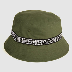 Pass Port Skateboards - Barbs Ribbon Canvas Bucket Hat - Green