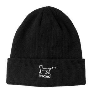 Krooked Skateboards - Kat Cuff Beanie - Black / White