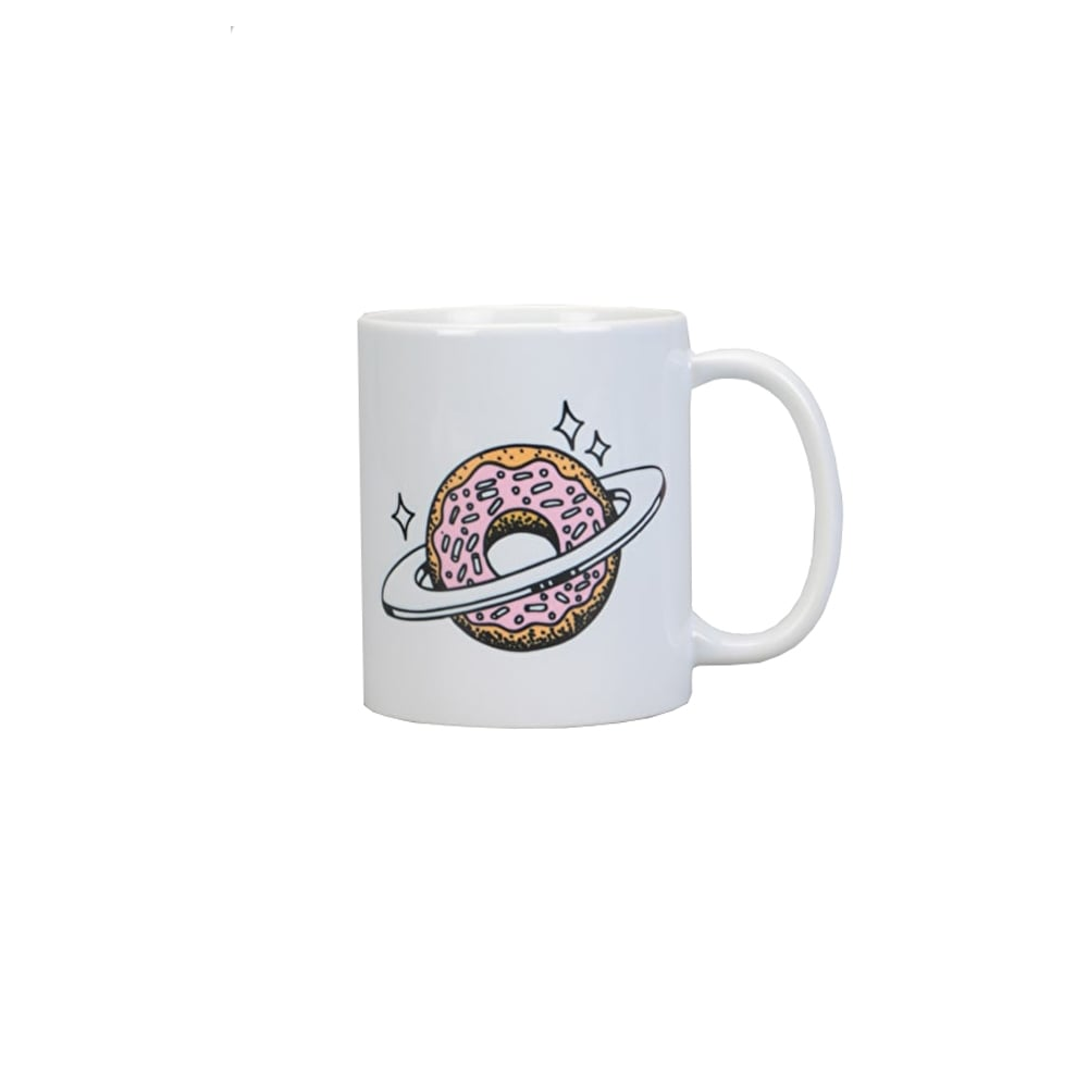 Skateboard Cafe - Planet Donut Mug - White
