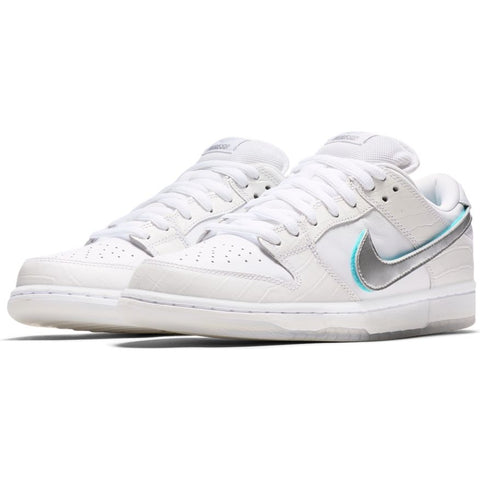 Nike SB - Diamond Dunk Low Pro OG QS Shoes - White / Chrome / Tropical Twist - Call Store for Details