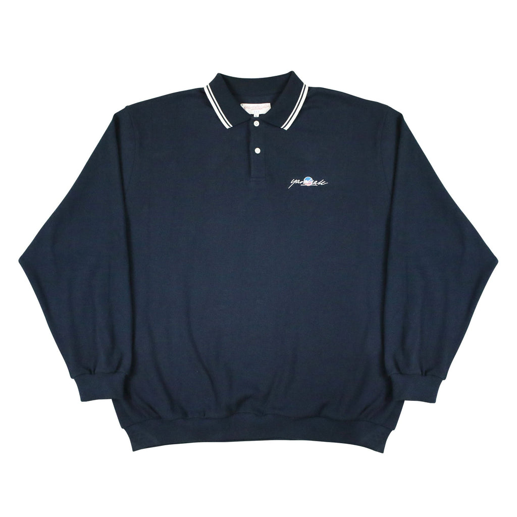 Yardsale - Lounge Polo Sweatshirt - Navy
