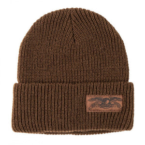 Anti Hero Skateboards - Eagle Label Cuff Beanie - Brown