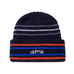 Dime MTL - Striped Beanie - Black