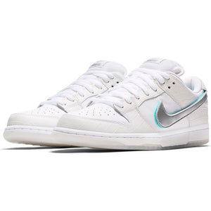 Nike SB - Diamond Dunk Low Pro OG QS Shoes - White / Chrome / Tropical Twist
