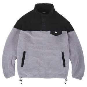 Magenta Skateboards - MTN Duo-Tone Crew Fleece - Black / Grey