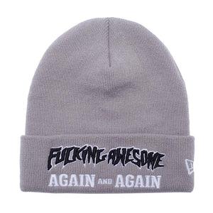 Fucking Awesome - Again And Again New Era Beanie - Grey