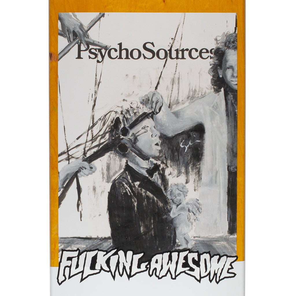 "Fucking Awesome - 8.18"" Jason Dill Psycho Sources Skateboard Deck - Yellow"