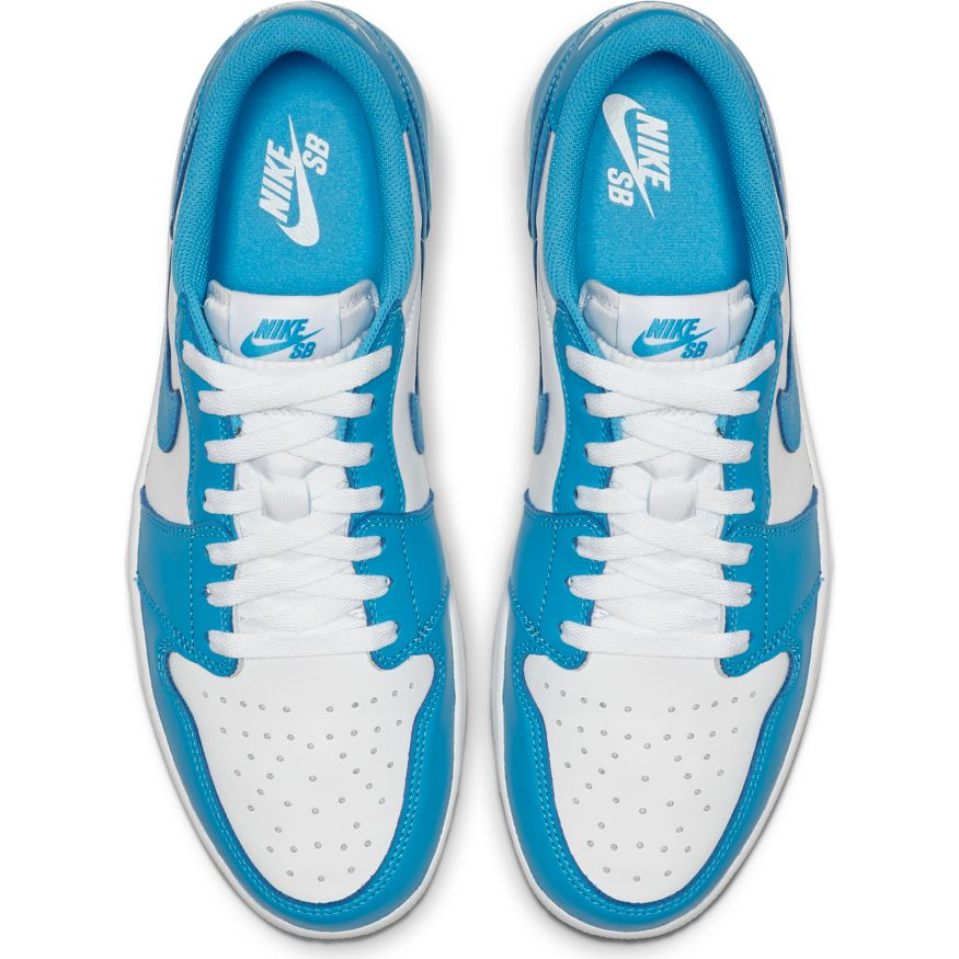 Nike SB - Air Jordan 1 Low Shoes - Dark Powder Blue / White
