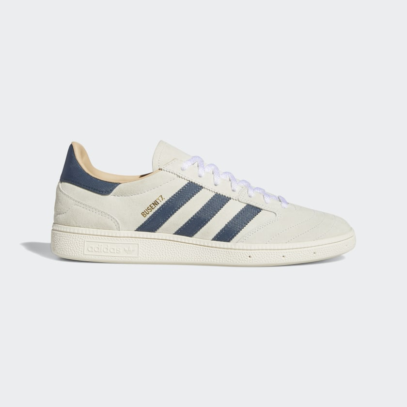 Adidas Skateboarding - Busenitz Vintage Shoes - Crystal White / Legacy Blue / Chalk White