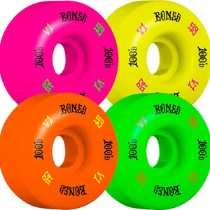 Bones Wheels - 53mm 100's V1 Party Pack Skateboard Wheels