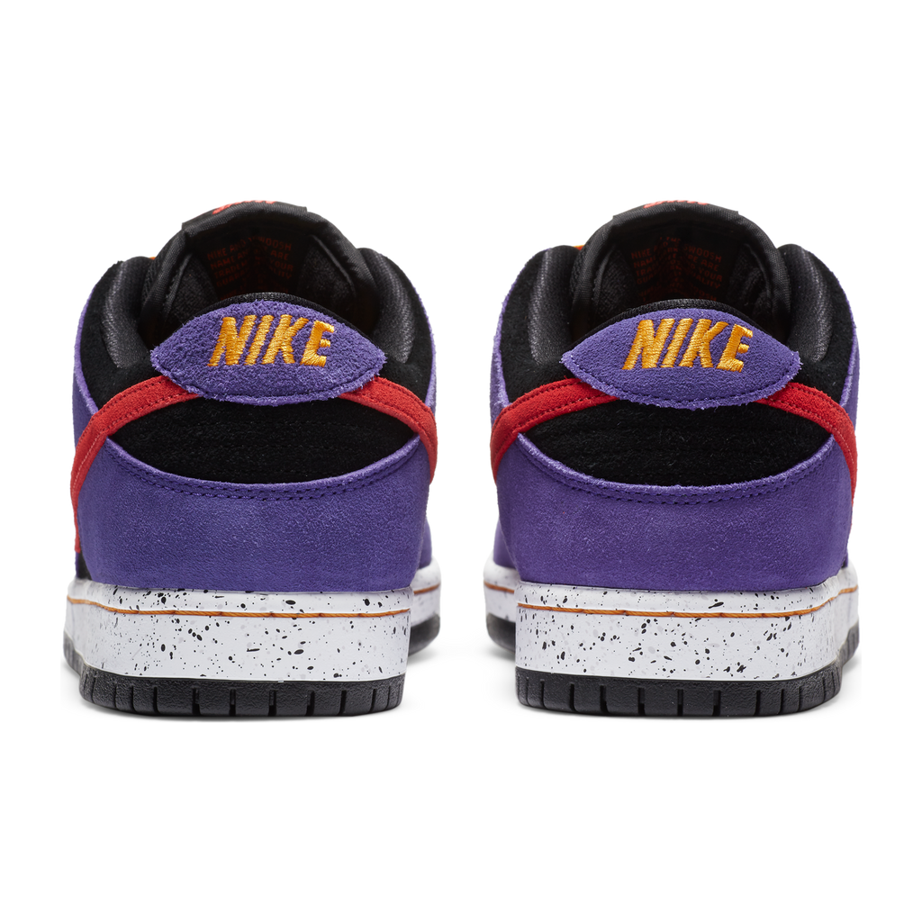 Nike SB - Dunk Low Pro Shoes - Black / Sunburst - Varsity Purple