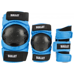 Bullet - Standard Pad Set - Junior - Blue / Black - OSFA