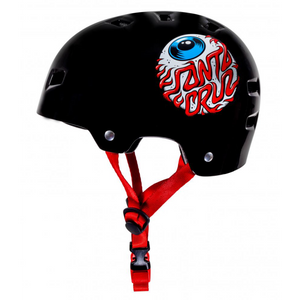 Bullet - Santa Cruz Eye Skateboard Youth Helmet - Gloss Black