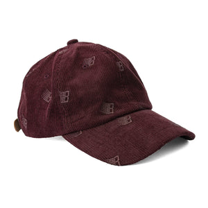 Bronze 56K - Allover Embroidered Cord Cap - Maroon