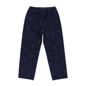 Bronze 56K - Allover Embroidered Cord Pants - Navy