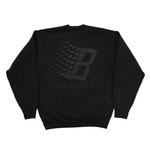 Bronze 56K - B Logor Crewneck Sweatshirt - Off Black