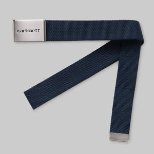 Carhartt WIP - Clip Belt Chrome - Blue
