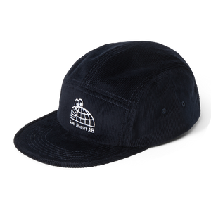 Last Resort AB - Half Globe Cord 5 Panel Cap - Black