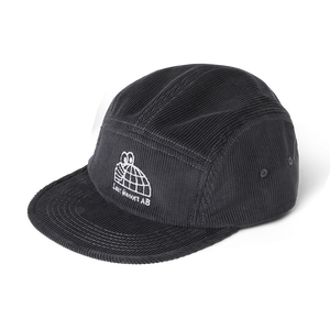 Last Resort AB - Half Globe Cord 5 Panel Cap - Grey