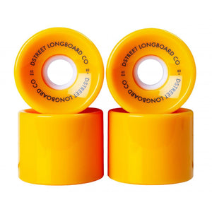 D-Street - 65mm (83a) Ocean Skateboard Wheels - Yellow