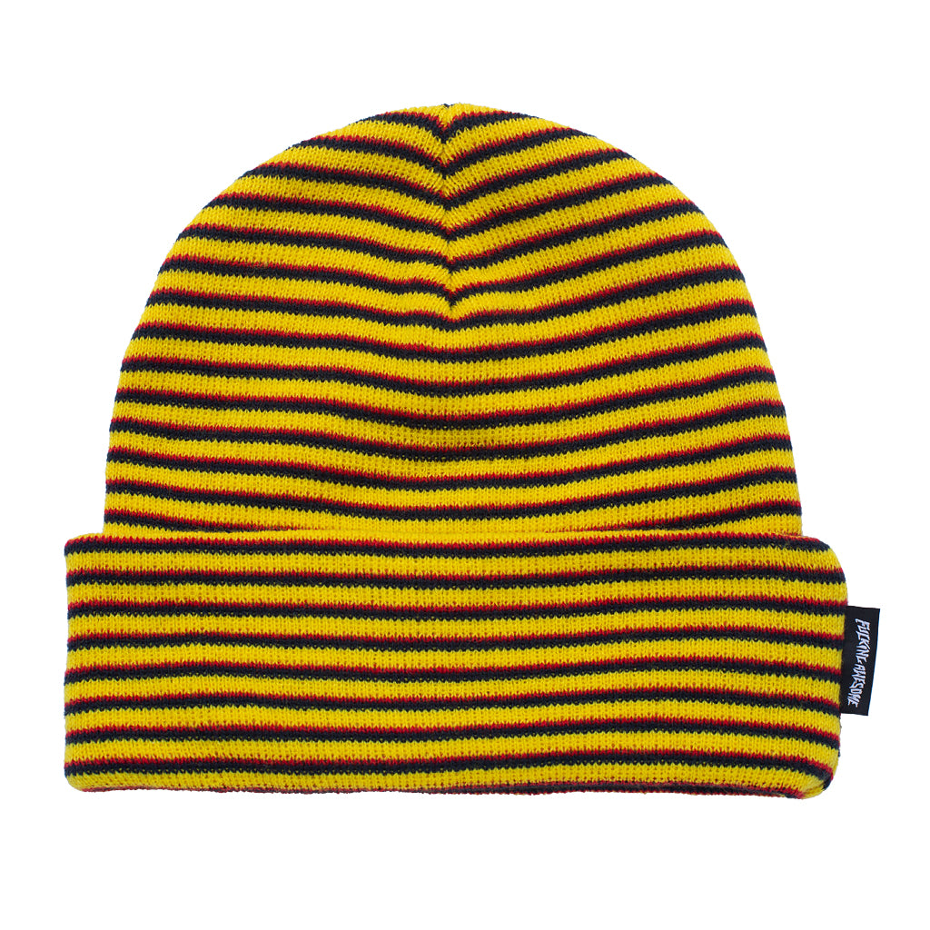 Fucking Awesome - Striped Cuff Beanie - Navy / Orange