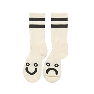 Polar Skate Co. - Happy Sad Classic Socks - Ivory