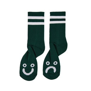 Polar Skate Co. - Happy Sad Classic Socks - Dark Green