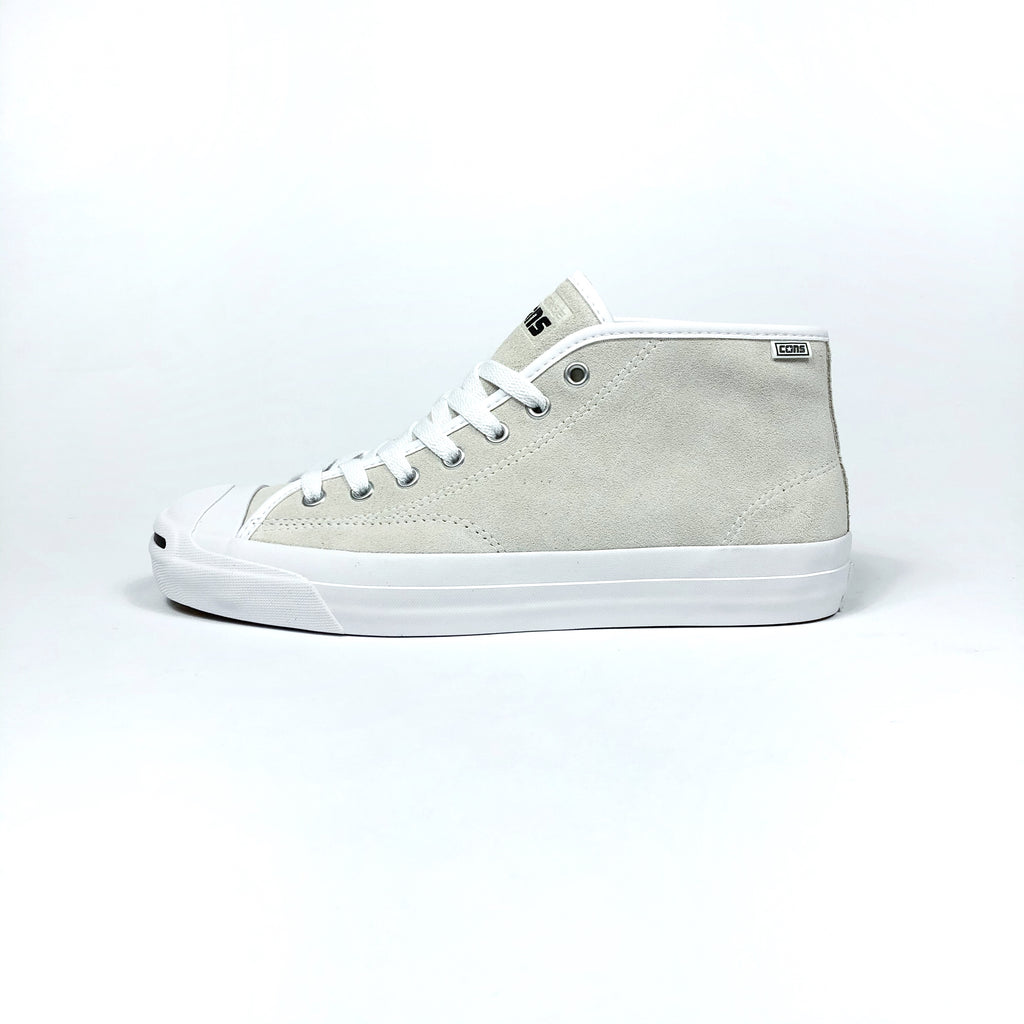 Converse Cons - Jack Purcell Pro Mid Shoes - White / White