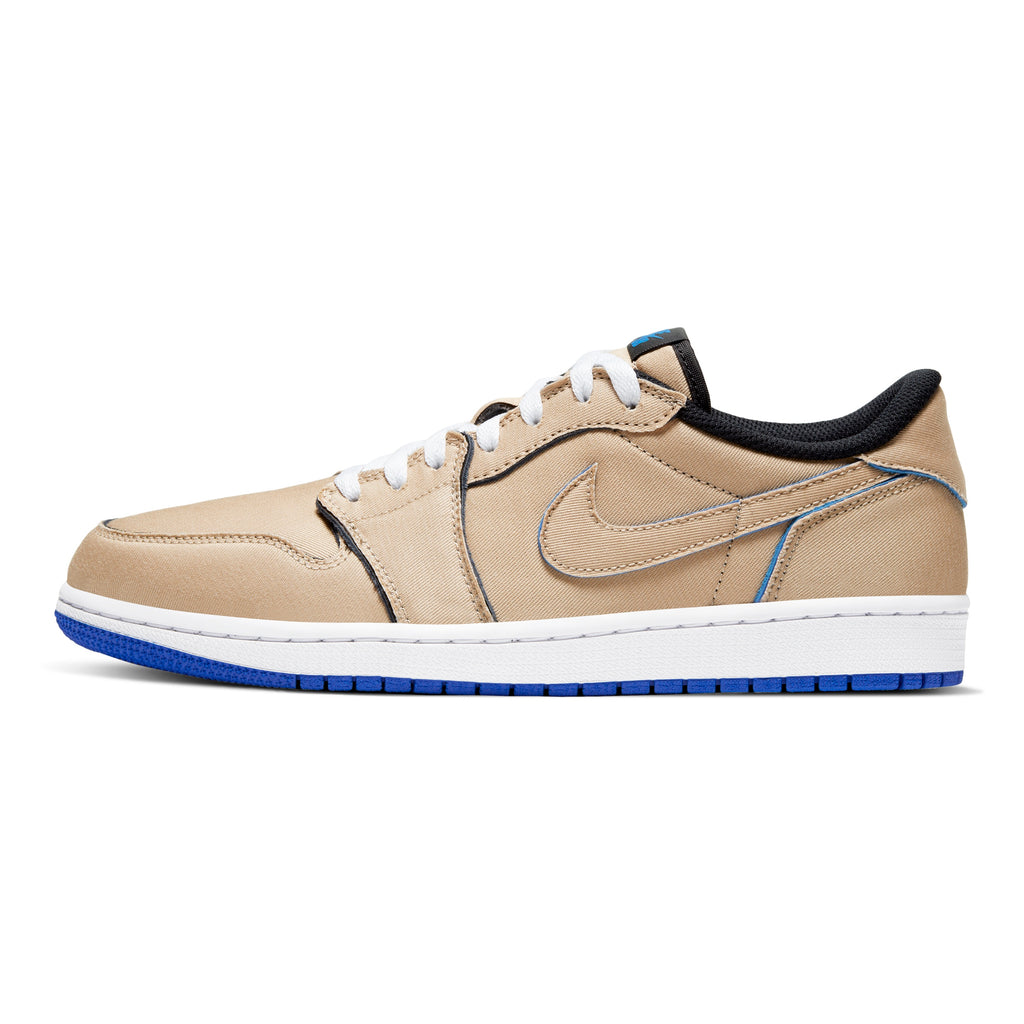 Nike SB - Air Jordan 1 Low QS Shoes - (Lance Mountain) Desert Ore / Royal Blue - Dark Powder Blue