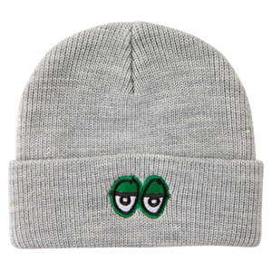 Krooked Skateboards - Eyes Cuff Beanie - Heather Grey
