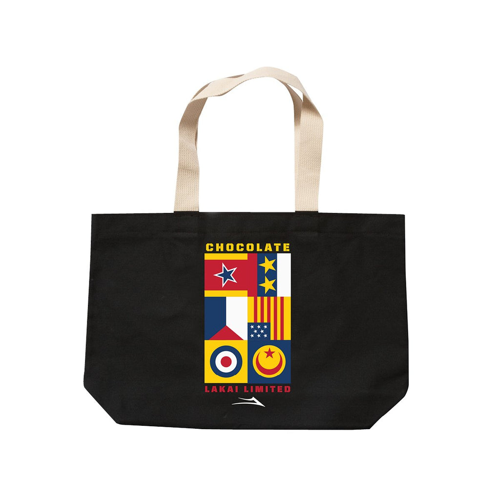 Lakai - Chocolate Skateboards Flags Tote Bag - Black
