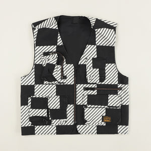 Levi's Skateboarding Collection - Skate Utility Vest Kelly Check - Black / White