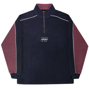 Yardsale - Pipeline YS 1/4 Zip Fleece - Navy / Lilac